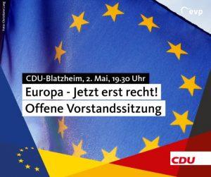 Europa – Jetzt erst recht! Und weitere Themen