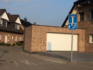 Markierung Verkehrsberuhigter Bereich in Manheim-neu