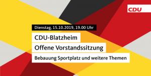 Offene Vorstandssitzung - CDU Blatzheim - Gäste sind herzlich willkommen @ Altes Gemeindehaus