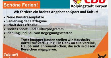 Zuhören – Kümmern – Handeln! Sport und Kultur.