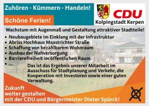 Zuhören – Kümmern – Handeln! Stadtentwicklung.