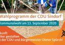 Wahlprogramm der CDU-Sindorf