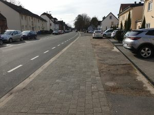 Sanierung Gehweg Dürener Straße in Bergerhausen