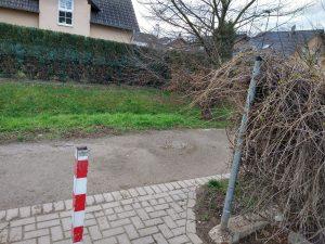 Abfallbehälter Durchgang Gluckstraße
